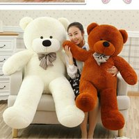 Wholesale low priced toys resale online - High quality Low price Plush toys large size80cm teddy bear cm big embrace bear doll lovers christmas gifts birthday gift