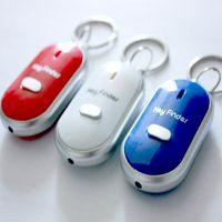 soundkontrolle verlorener schlüssel sucher groihandel-Mode Anti Lost LED Key Finder Locator 4 Farben Stimme Sound Pfeife Locator Keychain Steuer Fackel Kann FBA Schiff WX9-573