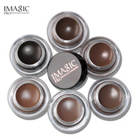 Wholesale Tint Brushes Wholesale - IMAGIC New Arrivals Professional Eyebrow Gel 6 Colors High Brow Tint Makeup Eyebrow Brown Eyebrow Gel With Brow Brush Tools