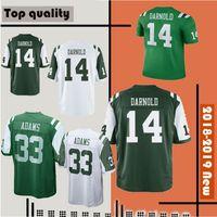 jets jerseys baratos al por mayor-New York Jets Jersey # 14 Sam Darnold 33 Jamal Adams 12 Joe Namath Camisetas de fútbol Hombres cosidos Camisetas blancas verdes Ofertas baratas