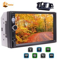 Wholesale free mp5 resale online - 7 HD Touch Screen Double Din In Dash Car headunit Stereo MP5 Player Audio Video Multimedia Player Bluetooth Hands Free FM Radio Aux in USB