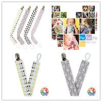 Wholesale wholesale dummy clips - 4pcs set Baby Pacifier Clip Chain Cotton Dummy Holder Chupetas Soother Pacifier Clips Strap Nipple Holder For Infant Feeding