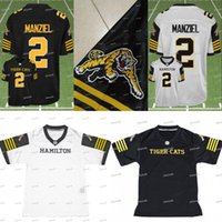 Wholesale jersey cat - Johnny Manziel #2 Hamilton Tiger Cats TiCats CFL Football Jerseys 2018 New For Men Women Youth Customizable Stiched Your Name & Number