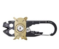 Wholesale wholesale camping tool online - 20 in Outdoor Portable Multifunctional EDC Tool Camping Screwdriver Wrench Compact Keychain Blade File Wire Stripper Ruler DDA733