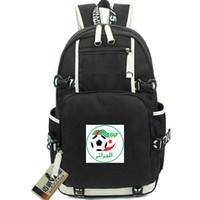 Wholesale pu backpack fox for sale - Group buy Desert fox backpack Algeria state team day pack Nice Football school bag Soccer packsack Laptop rucksack Sport schoolbag Out door daypack