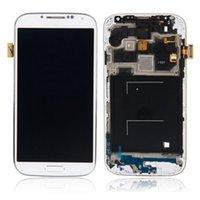 quadro de tela i545 venda por atacado-30 pçs LCD para samsung galaxy s4 i9500 i9550 i9515 i545 display lcd touch screen digitador da tela + assembléia quadro substituição lcd