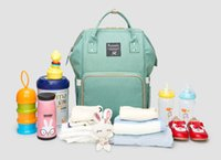Wholesale Multifunction Diaper Bags - Land diaper Nappies Bags Mommy Backpacks Outdoor Travel Bags Organizer Mother Maternity Diaper Backpack Large Volume Multifunction DHL Free