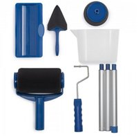 Wholesale paint tools - 5pcs 1set DIY Wall Painting Paint Roller Kit Runner Pintar House Facil Renovator Paint Roller Pintar Facil Decor Professional tool LJJK843