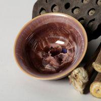 Wholesale green tea aroma online - S China Tea Kungfu Tea Set Crystalline Glaze Purple Cup Hand Painted Tea Cup Aroma Cups Built Zhancha Bowl Master Cup