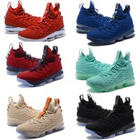 Wholesale Leather Flowers For Sale - 2018 Hot sale with Zipper James 15 Basketball Shoes for High quality Zoom 15s Wolf Grey Flowers Airs Cushion Sports Sneakers Size 40-46