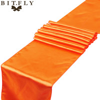 Wholesale wedding table runners colors for sale - Group buy Retirement cmx cm Pieces Satin Table Runner Wedding Decoration Colors Home Table Runners Accessories In Best Price