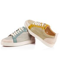 dokuma alt ayakkabılar toptan satış-İlkbahar / Yaz Dokuma Keten Rantulow Sneakers Düz Kadın Erkek Kırmızı Alt Kaykay Tasarımcı Spor Yürüyüş Ayakkabıları Ayakkabı-Mükemmel Hediye
