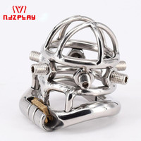 Wholesale chastity devices online - Chastity Devices Male Chastity Spikes Stainless Steel Cock Cage Penis Locking For Men Bondage Penis Rings With Screws kg