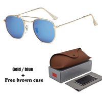 Wholesale general sunglasses for sale - Group buy 1pcs Brand Sunglasses for Men women Brand Designer Sun glasses General Square glasses Metal Frame UV400 Lenses with brown cases and box