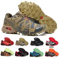 marcas britânicas venda por atacado-Salomon Speedcross 3 Outlet marca UK Solomons Speedcross 3 CS Trail Calçados Casuais mulheres Leve Sneakers Marinha Solomon III Zapatos À Prova D 'Água sapatos atléticos