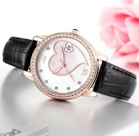 Wholesale White Watches Bling - Fashion women Rhinestone watches luxury brand Bling Diamond bezel dress Quartz watch Auto Date For Ladies Valentine Gift Wtach Wholesale