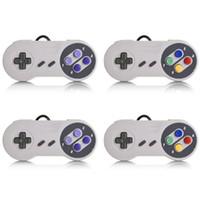 usb snes controller für pc großhandel-SNES USB Spiel Gaming Pad Controller Für Super Nintendo Günstige Wired Joystick Controller Für PC XP Windows 7 8 10 VISTA MAC