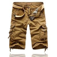 pantalon de travail pour homme achat en gros de-Été Hommes Travail Décontracté Shorts En Vrac Noir Hommes Mode Sport Ensemble Match Pantalons Shorts Plus La taille 29-38