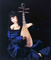impressionist painting woman portrait 2018 - Beautiful Chinese young woman playing Pipa in blue dress Handpainted & HD Printed Portrait oil painting Wall Art On Canvas Multi Sizes P169
