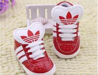 primeiro sapatos venda por atacado-Novos Sapatos de Bebê Recém-nascidos Meninos Meninas Padrão de Estrela Do Coração Primeiros Caminhantes Crianças Crianças Lace Up PU Sneakers 0-18 Meses