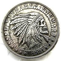 fe7e2c818 Wholesale arts skeletons online - HB US Hobo Morgan Dollar skull zombie  skeleton Creative Coin Pressed