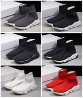 botas para as mulheres cunha branca venda por atacado-2020 Luxo Sock Speed Trainer Running Shoes MenWomen Black White Red Sneakers Grey raça Moda Top Botas Tamanho 36-45
