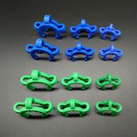 coletor de néctar azul verde venda por atacado-10mm 14mm 18mm Plástico Clips Keck Verde Azul Clips Laboratório Braçadeira de Laboratório Bong Clipe Para O Vidro Da Gota Para Baixo Adaptador Nectar Kits de Coletor