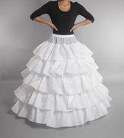 vestidos de novia enaguas al por mayor-Nueva enaguas nupciales en cascada volantes vestido de bola enagua tres enagua de crinolina debajo de los vestidos de boda nupcial