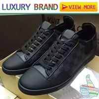 Wholesale Leather Monogram - Top Quality Gift famous Luxury Brand designer sneakers lace-up casual shoes genuine leather men women FRONTROW Monogram casual boots