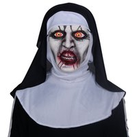 ingrosso halloween costume di zombie-Religieuse Zombia Evocation Anima Maschere Accessori per costumi Ghost Head Handstand Maschere spaventose in lattice Mens Women Halloween Masks Party Cosplay