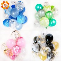 Wholesale wedding latex ballon for sale - Group buy 20pcs inch Multicolor Sequins Balloons Colorful Latex Balloon for Decorations Wedding Festival Ballon Party Supplies