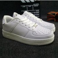 Wholesale Black Air Force Ones - 2018 Spring New Forces Trainers Men Women Air Low Cut White Black Casual Outdoor One 1 Dunk Shoes Unisex Zapatos Forces Sneaker Shoes