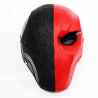 ingrosso freccia cosplay costume-Halloween Arrow Stagione Maschere di Deathstroke Full Face Masquerade Deathstroke Costume Cosplay Puntelli Terminator Resin Helmet Mask