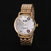 ingrosso marche di orologi moderni-2018Hot marchio di vendita diametro 35mm Modern Casual orologio di lusso orologio classico donna Orologi orologio Relogio marca orologi da polso