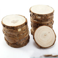 Wholesale wedding headwear diy for sale - Group buy Log Pine Wood Chips Handmade DIY Painting Round Logs Wooden Props For Wedding Favors Party Gifts Home Decoration fh ff