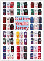 Wholesale Basketball Jersey Kids - Wholesale Youth 2018 New season jerseys Embroidery Very popular Kids Basketball jersey
