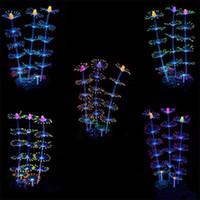 ingrosso illuminazione colore serbatoio pesce-Simulazione Coral Night Light Multi colore Effetto incandescente Coralli in silicone Acquario Fish Tank Decorare forniture Vendita calda 15wt ff