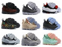 Wholesale Vintage Fabric Designs - Men's James 15 Basketball Shoes James XV Vintage Fish Scale Design Fashion High Quality Indoor & Outdoor Sneakers