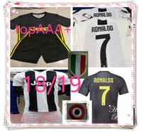 Wholesale men s home pants - adult Jerseys+shorts 2019 RONALDO JUVENTUS Soccer Jersey 18 19 Home Away DYBALA Camisetas Futbol Camisas Maillot Football Shirt and pant