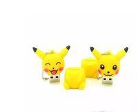 sevimli usb flash bellek toptan satış-Gerçek Kapasite Sevimli Hayvanlar USB Flash Sürücü Anime Karikatür Pikachu 32 GB Kalem Sürücü U Disk Memory Stick