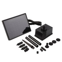Wholesale Solar Water Fountain Pumps - Solar Power Panel Kit Fountain Water Pump For Pond Pool-Black