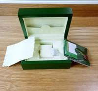 мужские наручные часы оптовых-Бесплатная доставка Новый стиль Зеленый Смотреть Бумаги Подарочные часы Коробки Кожаная сумка Card140mm * 85mm 0.8KG Для мужчин Watch Box.