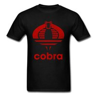 cobra negro animal al por mayor-Cobras Classic T-shirt Hombres Tops Tees King Snake T-shirt Summer Custom Mens Own Own Logo Ropa Verano T-shirt Negro
