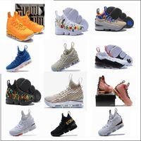 Wholesale long black round shoe laces - 2018 high quality SUPER STAR king 15 Shoes Long Arrival casual shoes15 Fruity Pebbles 15 Mowabb size 40-46