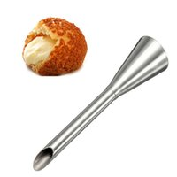Wholesale decorating tool piping for sale - Stainless Steel Cake Piping Nozzles Cream Puffs Decorating Squeeze Flower Mouth Kitchen Pastry Baking Tool High Quality bc C