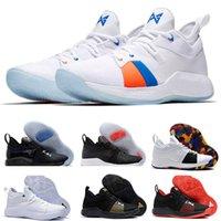 mavi istasyon toptan satış-2018 için yeni George 2 PG II Basketbol Ayakkabıları adam üst PG2 2 S Yıldızlı istasyonu EP Mavi Spor Çalıştırmak spor Eğitim Sneakers