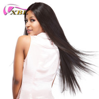 Wholesale virgin brazilian human hair wigs online - xblhair body wave straight human hair wig virgin brazilian human hair front lace wig within baby hair