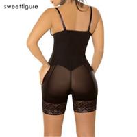 dessous hintern großhandel-Sexy Kolben-Heber-Bodysuit-Frauen-Wäsche-heiße Former-Kurzschluss-Spitze-Reißverschluss, der Körper-Former-Formungs-Damen-Unterwäsche-Klage abnimmt, stellte ein
