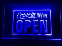 açık kafe işaretleri toptan satış-I001b-Gel Biz AÇIK konumuz Dükkanı cafe Bar Ekran LED Neon Işık Burcu