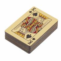 euro spiele großhandel-Poker Karten PET / PVC Wasserdichte Kunststoff Luxus Folie Plated Spielkarten Party Games Grid / Euro Einseitige Farbe Edition drop sh